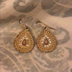 Francesca's Pink Stone Earrings